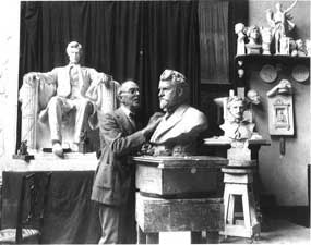 Daniel Chester French in his Studio