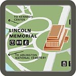 Map of Lincoln Memorial