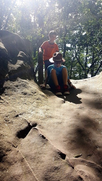 Jacob and Alex having fun at Mushroom Rock