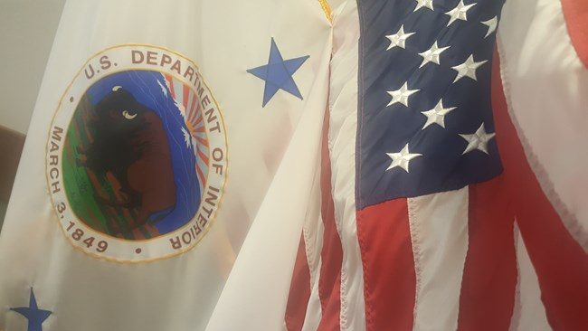 NPS flag & US flag