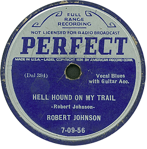 Robert Johnson's Hell Hound On My Trail record cover