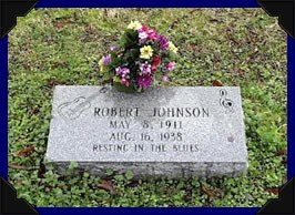Robert Johnson Grave headstone marker