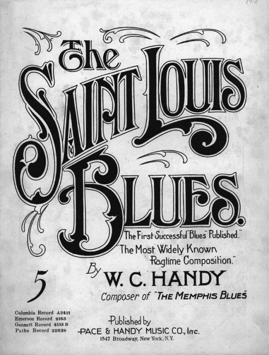 Sheet Music for St Louis Blues by WC Handy