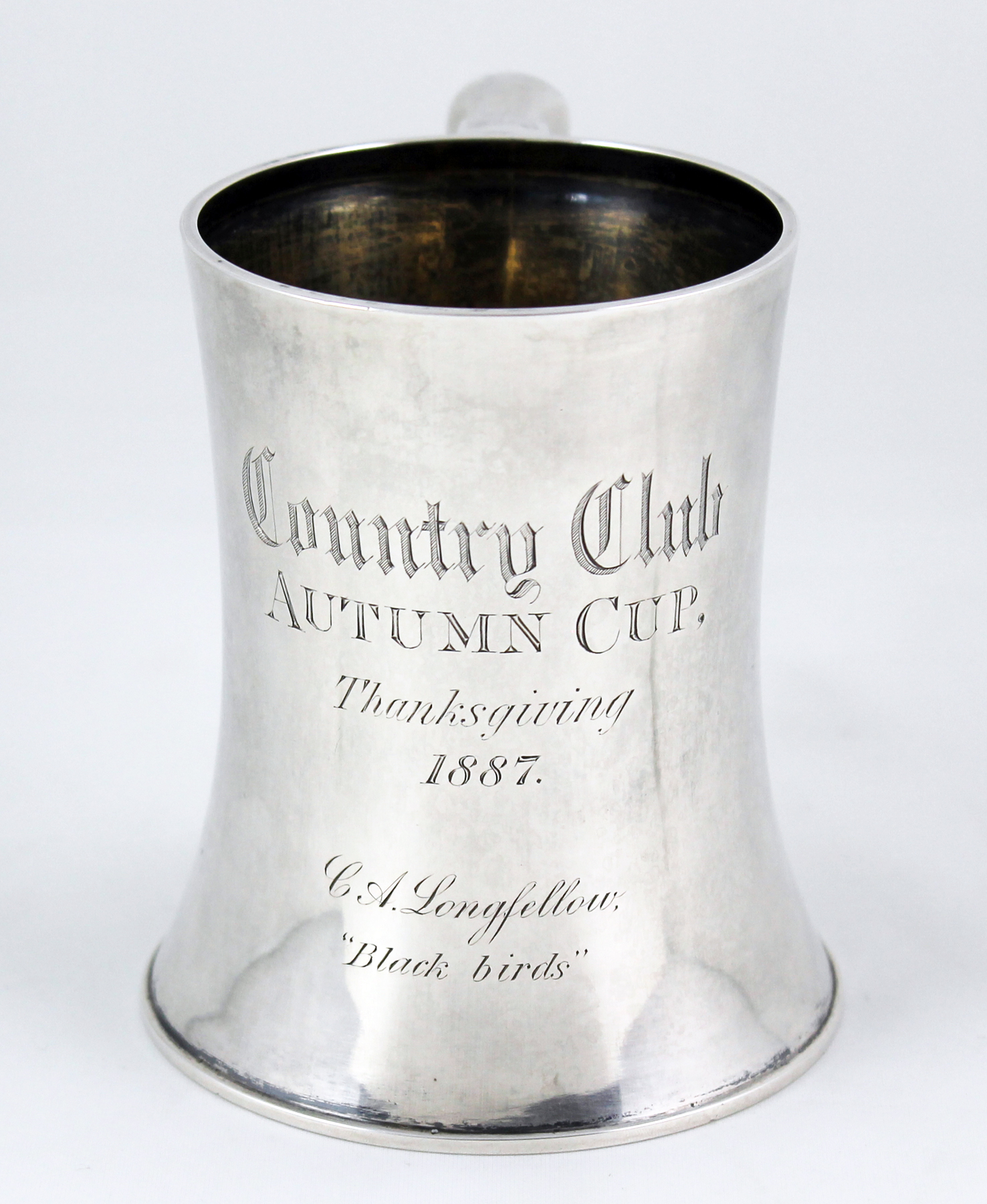 The Country Club Autumn Cup for 1887, won by Charles A. Longfellow.