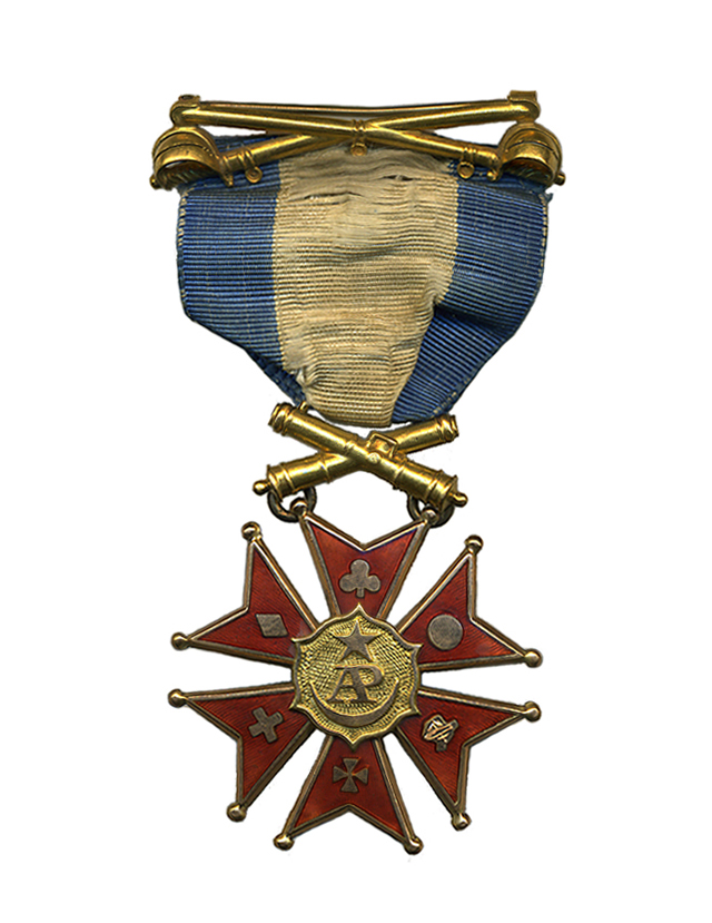 A Society of the Army of the Potomac medal that belonged to Nathan Appleton, Jr.