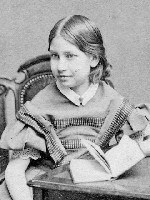 Alice Longfellow as a young girl, c. 1858