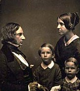 Henry W. Longfellow, Frances Longfellow, and their sons Charley and Erny.