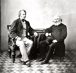 Charles Sumner and Henry Wadsworth Longfellow, 1863.