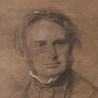 Portrait of Henry W. Longfellow, by Samuel Laurence, 1854.