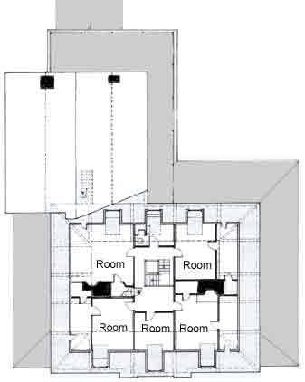 Plan of third floor of Vassall-Craigie-Longfellow House