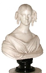 Marble bust of Frances Appleton by Lorenzo Bartolini 1836