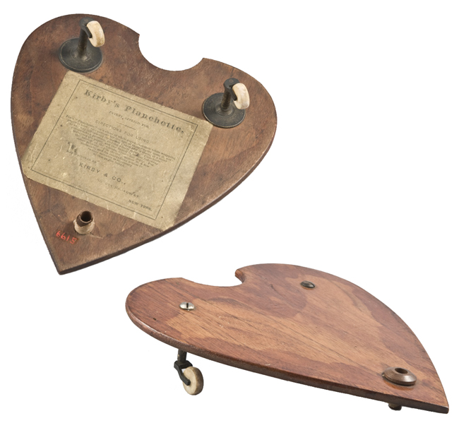 A planchette from the 1860s, used to communicate with the spirit world.