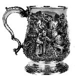 Charles Longfellow's silver christening cup.