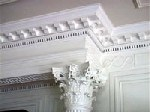 Detail of library column and molding.