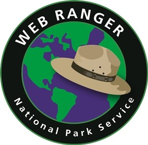 Logo of tan ranger hat over globe