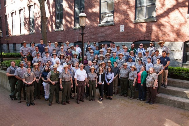 A staff photo at Lowell National Historical Park from 2018