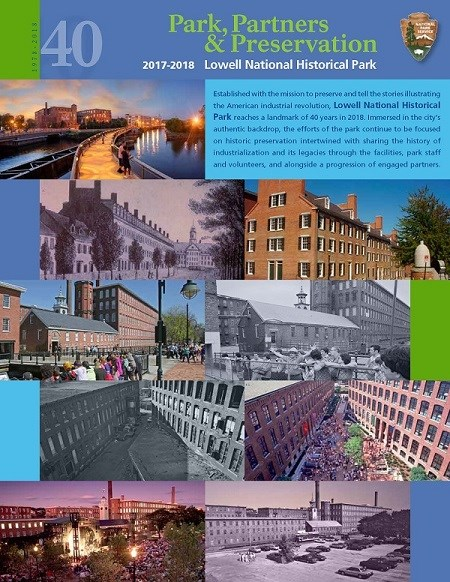 The Cover For the Lowell National Historical Park 2018 Annual Report