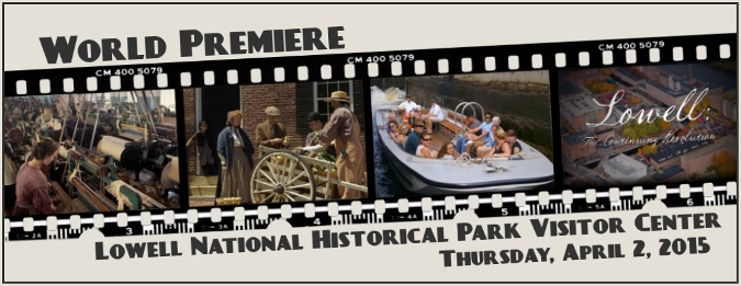 Filmstrip with scenes from the new park film
