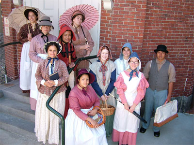 Summer Youth Theater group at Lowell National Historical Park
