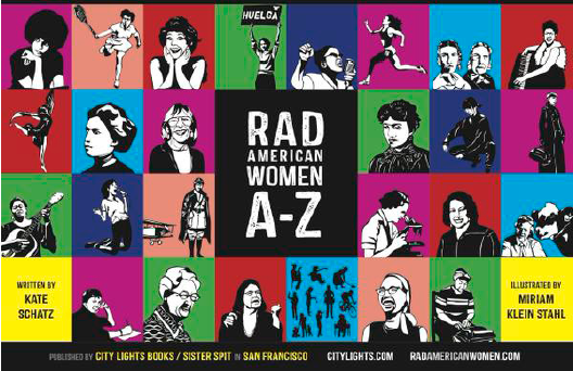 "Collage of Women featured in the book ""Rad American Women A-Z"""