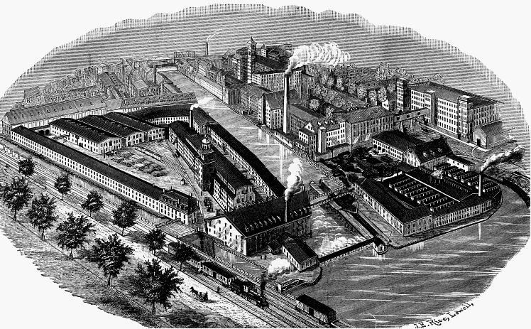 Lowell Machine Shop 1880s