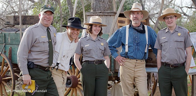 Park rangers at LBJ National Historical Park