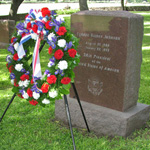 Wreath placed at President Johnson's grave