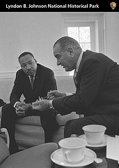 President Johnson with Martin Luther King, Jr.