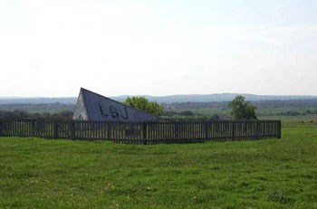 The Tetrahedron at the Ranch indicates wind direction