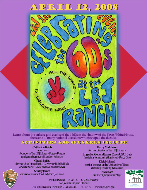Poster advertising the 60s event at the LBJ Ranch