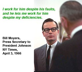 Bill Moyers, President Johnson's Press Secretary:
