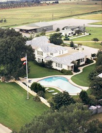 Aerial photo of the Texas White House