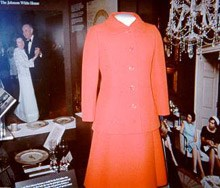 Lady Bird Johnson's crimson dress