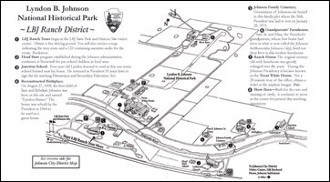 LBJ National Historical Park, LBJ Ranch District map