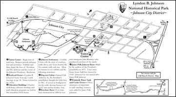 LBJ National Historical Park, Johnson City District Map