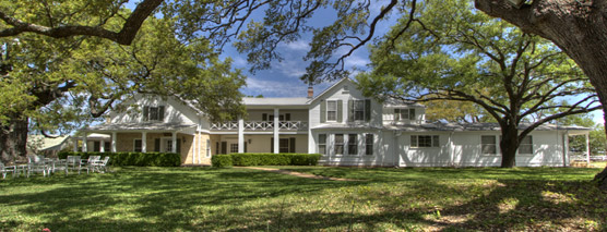 Panoramic photo of the Texas White House