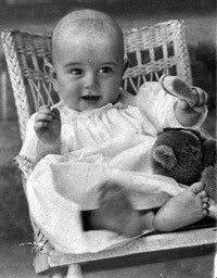 Lyndon Johnson at 6 months old.