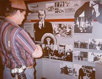 Viewing exhibits in the Visitor Center