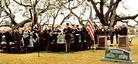 President Johnson's funeral at the LBJ Ranch
