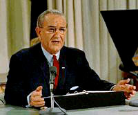 Lyndon Johnson announces that he will not run for a second term