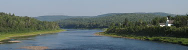 Panoramic of Allagash River.
