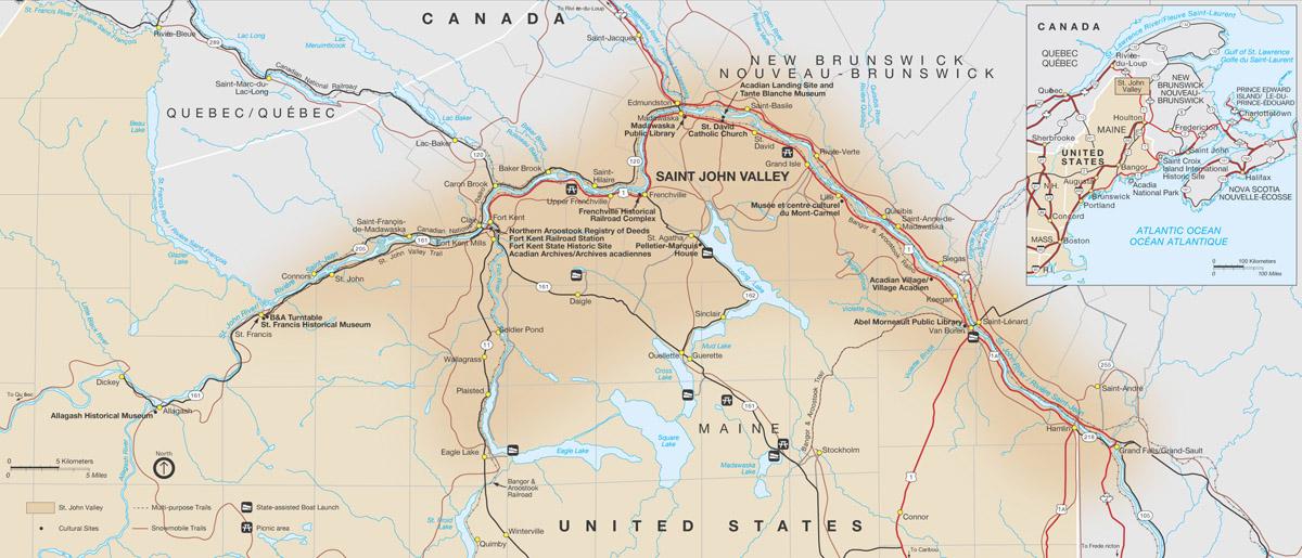 Maps Maine Acadian Culture U S National Park Service