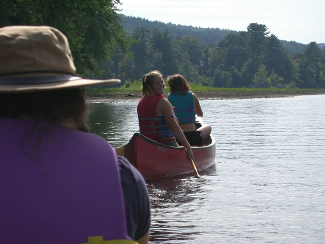 Canoeing on CT River