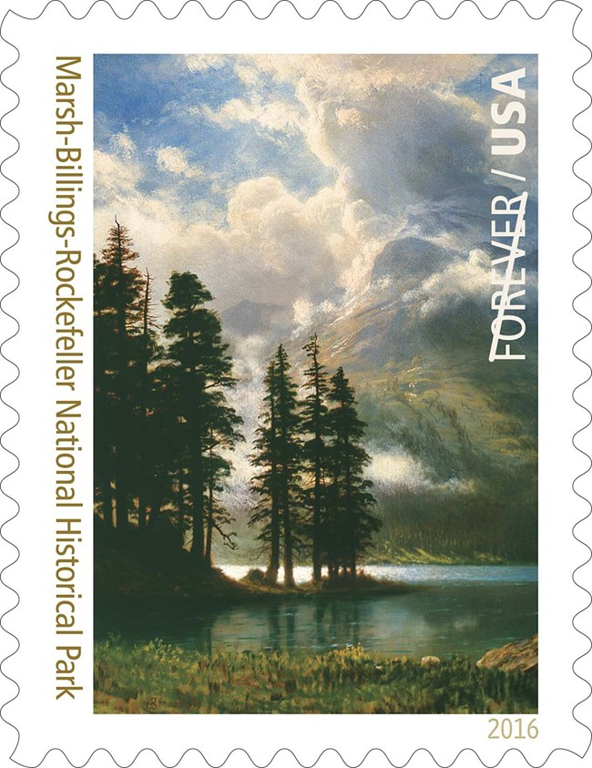 Centennial Forever Stamp - Scenery in the Grand Tetons by Albert Bierstadt