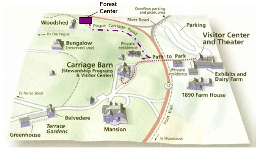 MABI Map to Forest Center