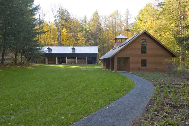 Wood Barn and Forest Center