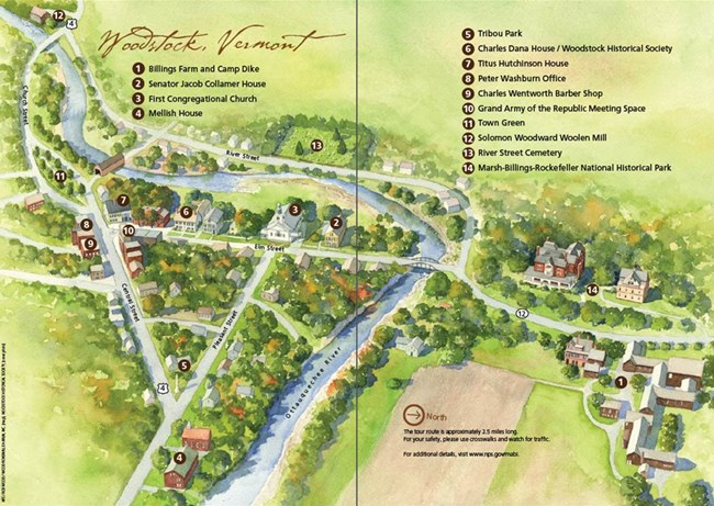 Woodstock Civil War Home Front Walking Tour map