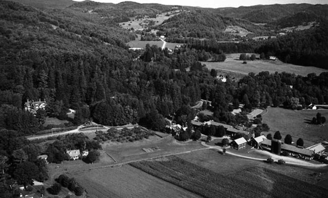 Aerial Photo Mt Tom & BFM 100 years later