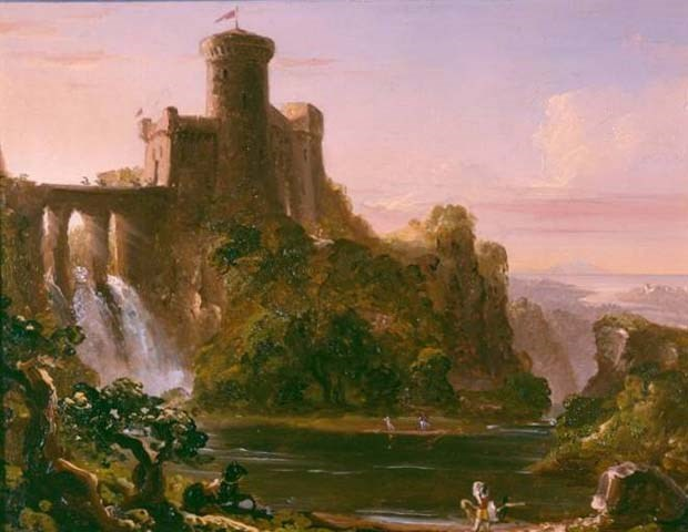 MABI 2836 Citadel and Waterfall by Thomas Cole