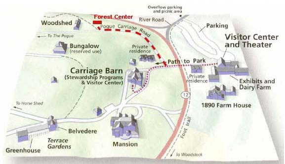 Park Map Route to Forest Center